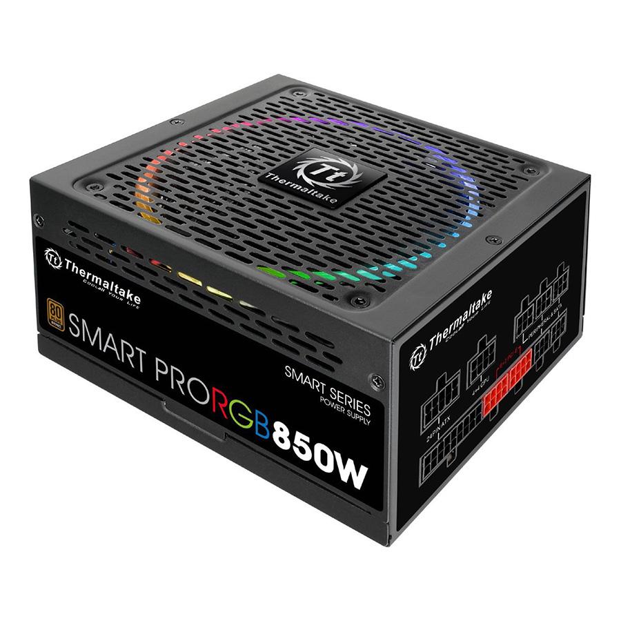 Nguồn Máy Tính PSU Thermaltake Smart RGB 850W Bronze PS-SPR-0850FPCBEU-R 140mm - Hàng Chính Hãng