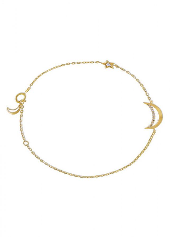 Lắc Tay Nữ Vàng 14K - LLF63 Huy Thanh Jewelry - 0,416 chỉ