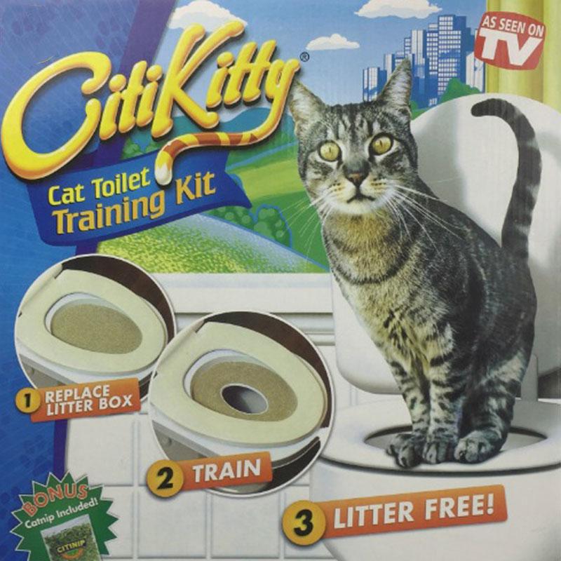 Bộ huấn luyện mèo đi vệ sinh vào bồn cầu