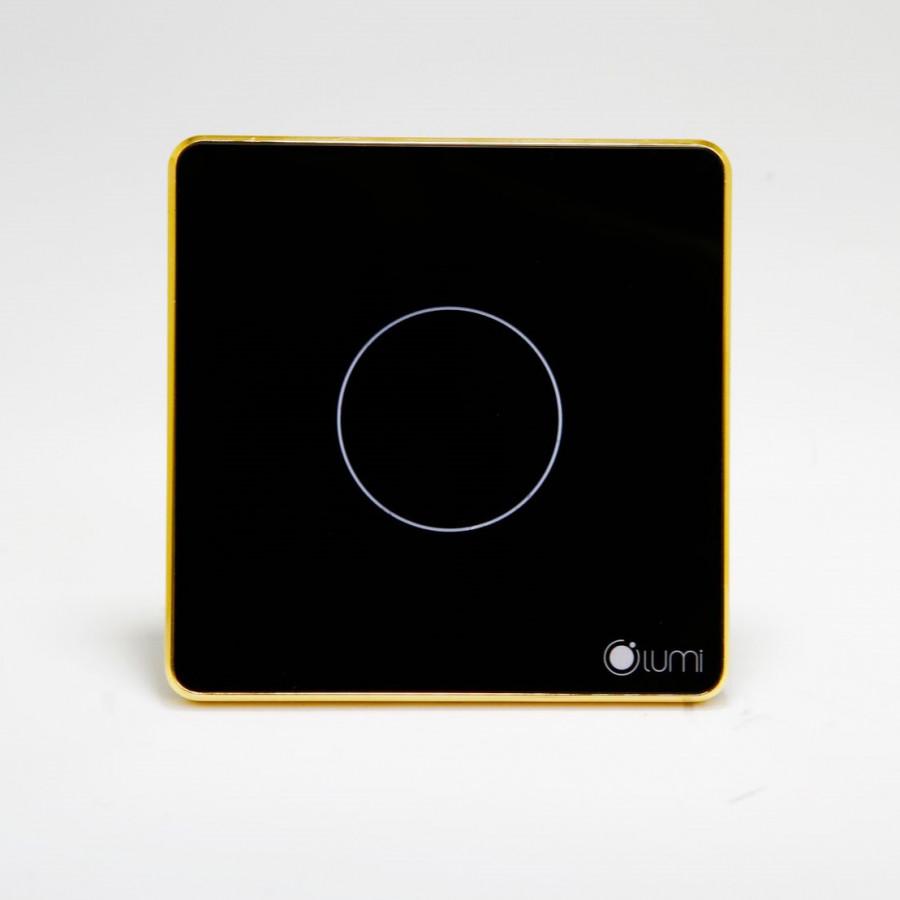 Công tắc vuông 1 nút Lumi LM-SG - Đen