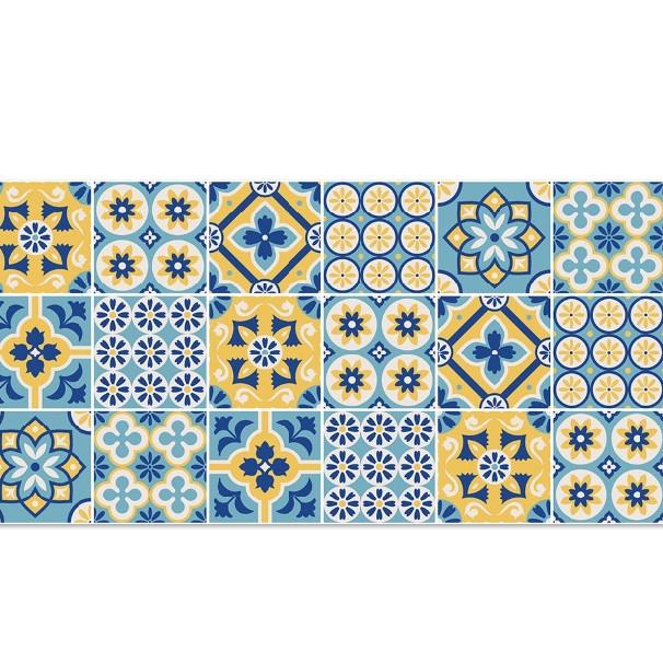 Decal gạch bông khổ lớn cổ điển dán bếp bền đẹp GB-002 KT 120 x 60 cm