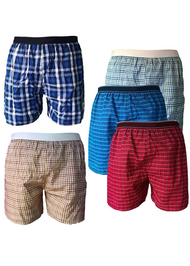 Bộ 5 quần đùi nam thể thao boxer lưng thun QDN02 - 9 (giao màu ngẫu nhiên)