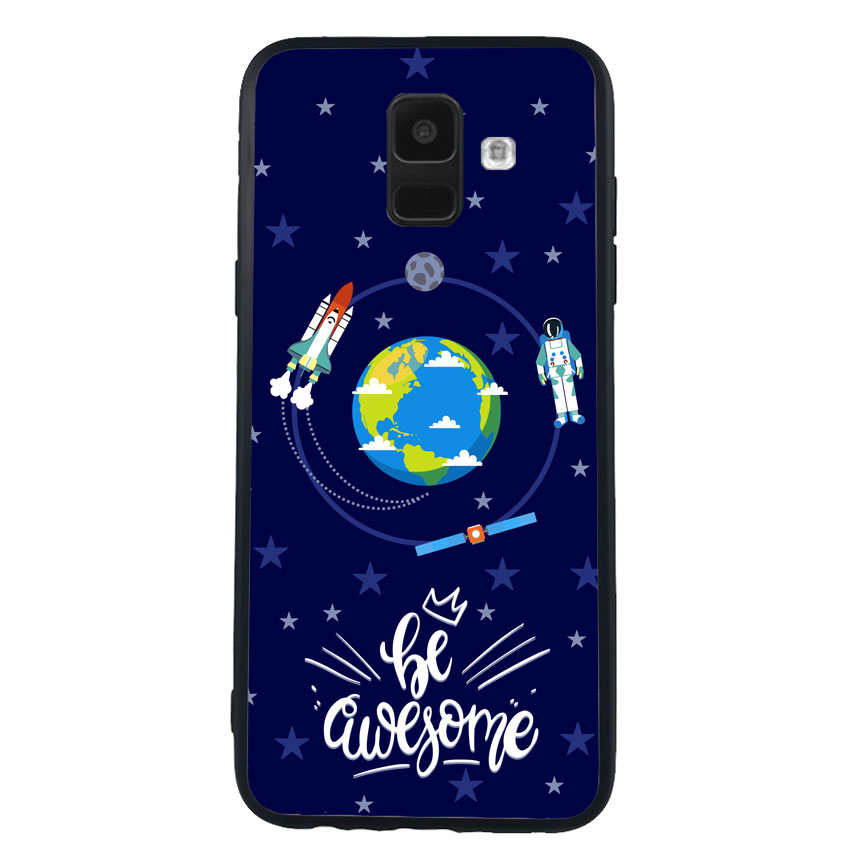 Ốp Lưng Viền TPU cho điện thoại Samsung Galaxy A6 - 0341 SOLARSYSTEM01