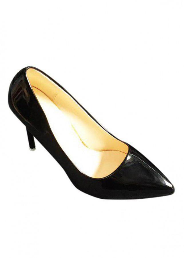 Giày Cao Gót Da Trơn Cao 9cm