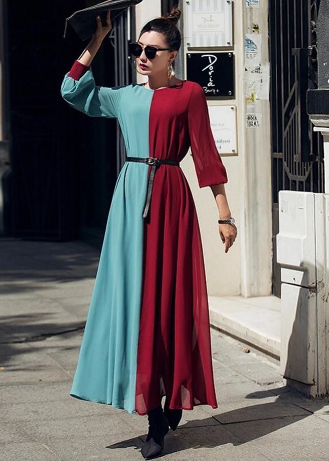 Đầm Suông Nữ Phối Màu K Kèm Thắt Eo Dress435N - 2343607826719,62_7513809,1000000,tiki.vn,Dam-Suong-Nu-Phoi-Mau-K-Kem-That-Eo-Dress435N-62_7513809,Đầm Suông Nữ Phối Màu K Kèm Thắt Eo Dress435N