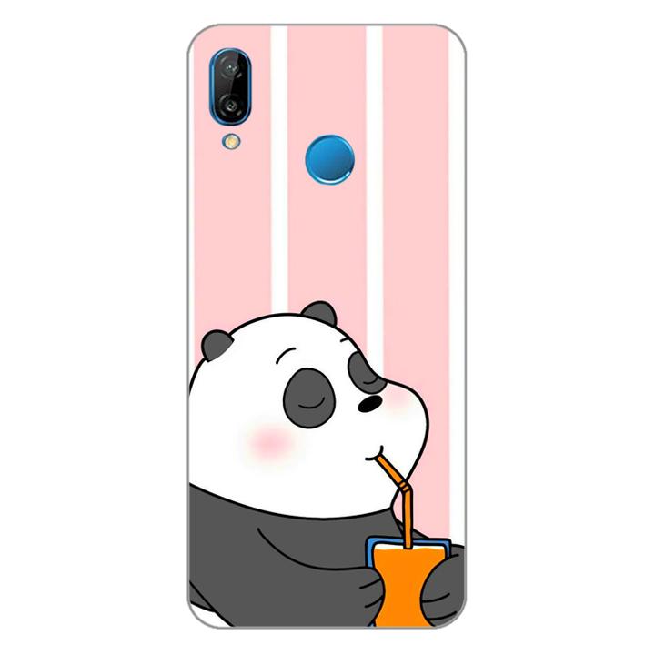 Ốp lưng dẻo Nettacase cho điện thoại Huawei Nova 3e_0399 PANDA06 - Hàng Chính Hãng