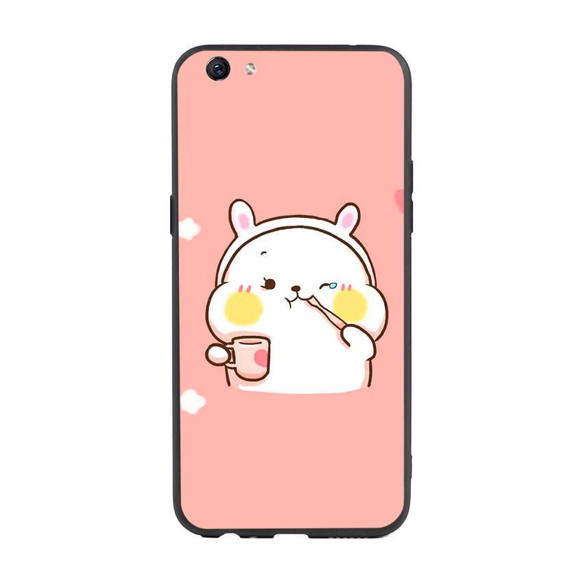 Ốp lưng nhựa cứng viền dẻo TPU cho điện thoại Oppo F3 Plus - Cute 06