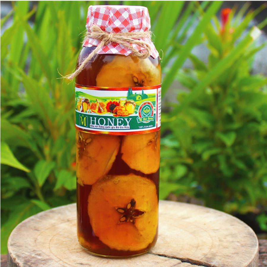 Mật ong rừng ngâm táo - bí quyết của sức khỏe  sắc đẹp từ bên trong - 300ml