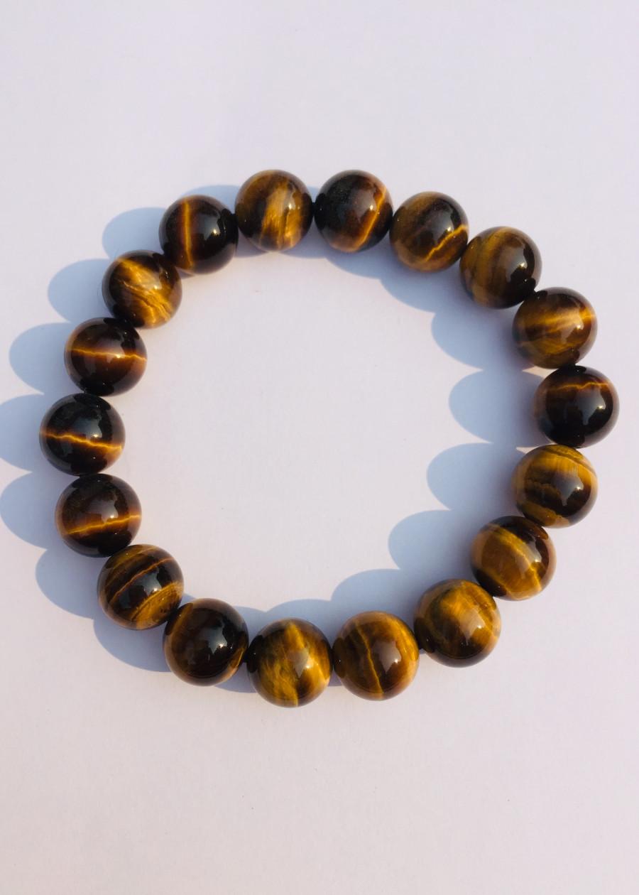Vòng Đá Mắt Hổ Nâu Vàng 10 ly - NEJA Gemstones