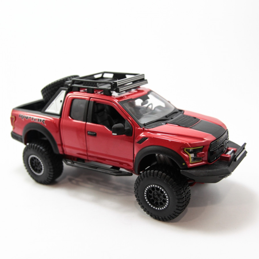Mô hình xe DESIGN OFF-ROAD KINGS 2017 FORD F-150 RAPTOR RED 1:24 MAISTO MH-32521