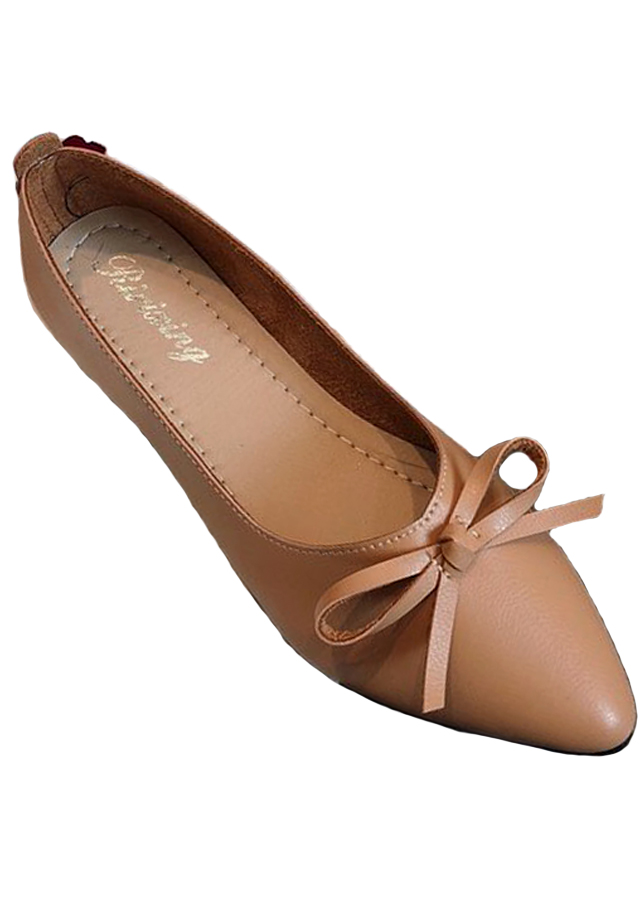 Giày búp bê mỏ nhọn da mềm có nơ xinh xắn-306 Nâu - 9408350 , 7276690673166 , 62_3102109 , 390000 , Giay-bup-be-mo-nhon-da-mem-co-no-xinh-xan-306-Nau-62_3102109 , tiki.vn , Giày búp bê mỏ nhọn da mềm có nơ xinh xắn-306 Nâu