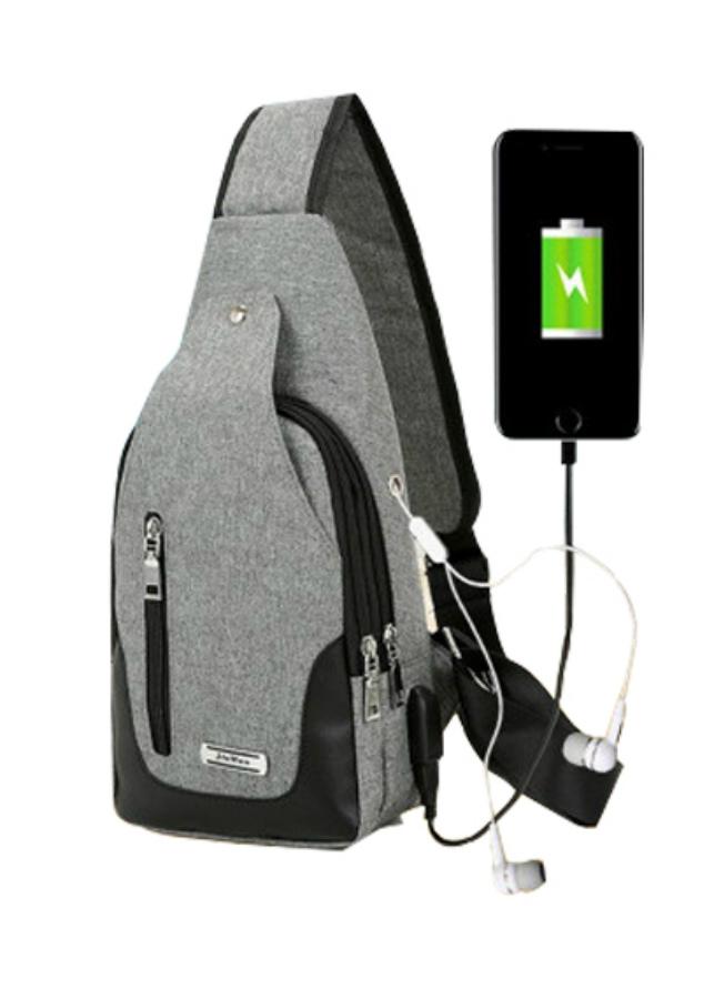 Túi Đeo Chéo Nam Nữ Thời Trang Cao Cấp Kèm Sạc USB TDC002