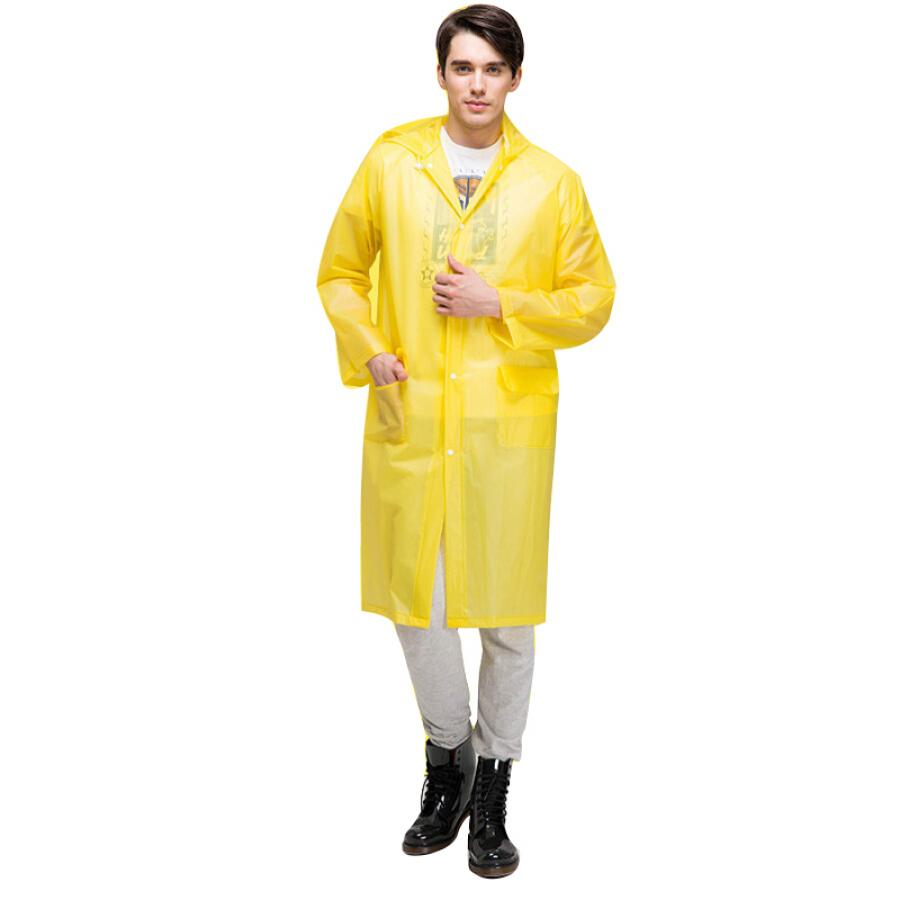 Companion line fashion light raincoat poncho non-disposable raincoat hooded one-piece raincoat adult electric car raincoat yellow BL1083