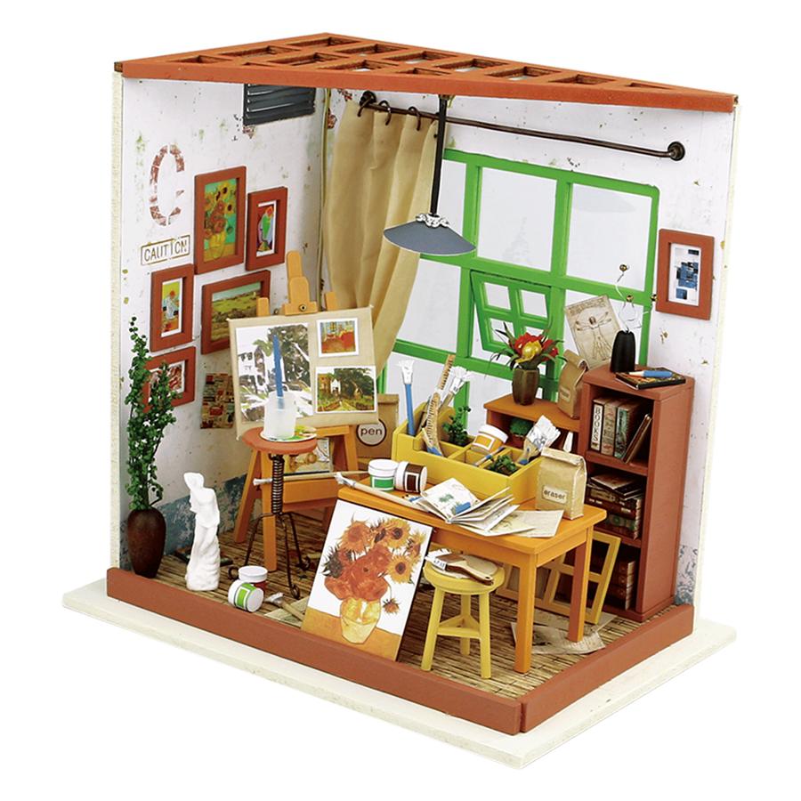 Mô hình DIY: Tiệm Tranh Tí Hon DG13