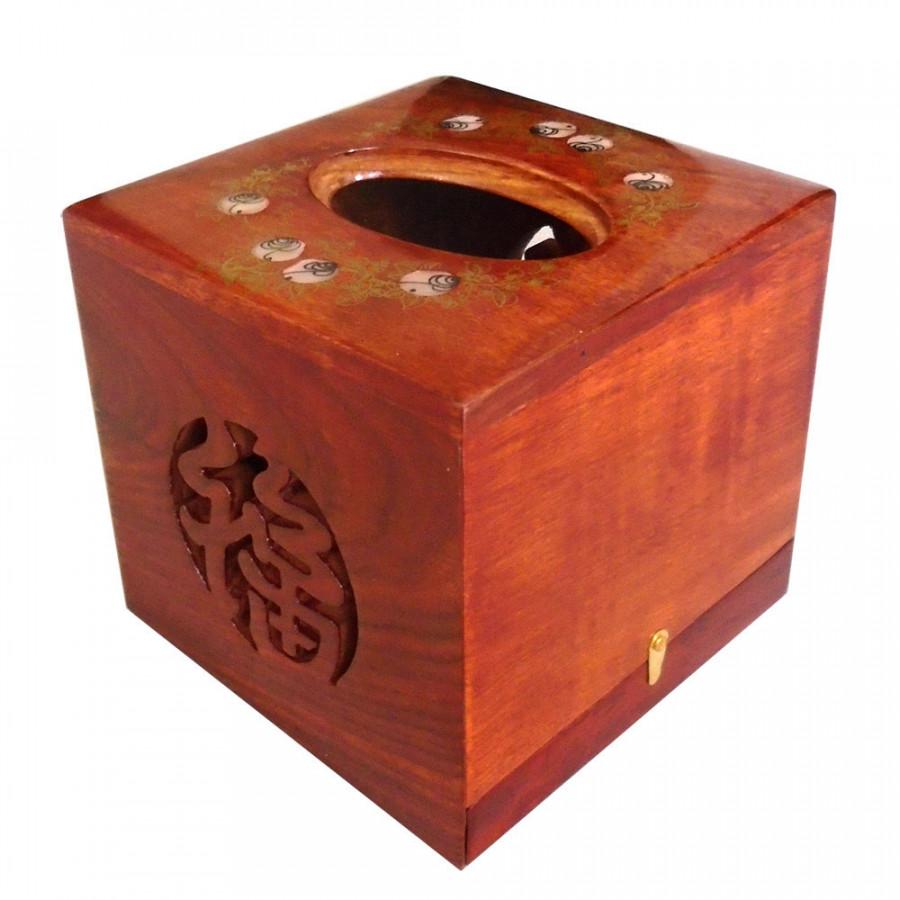 Hộp khăn giấy bằng gỗ hương ta đỏ cao cấp lọng chữ phúc vuông HGV01 - 7593047 , 9889359959105 , 62_16993569 , 159000 , Hop-khan-giay-bang-go-huong-ta-do-cao-cap-long-chu-phuc-vuong-HGV01-62_16993569 , tiki.vn , Hộp khăn giấy bằng gỗ hương ta đỏ cao cấp lọng chữ phúc vuông HGV01