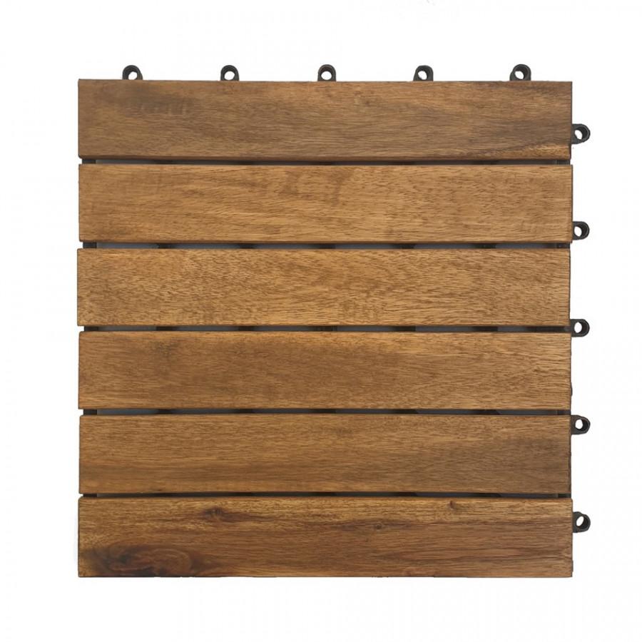 Ván sàn gổ lót sàn 6 nan - nâu đỏ (20 tấm)