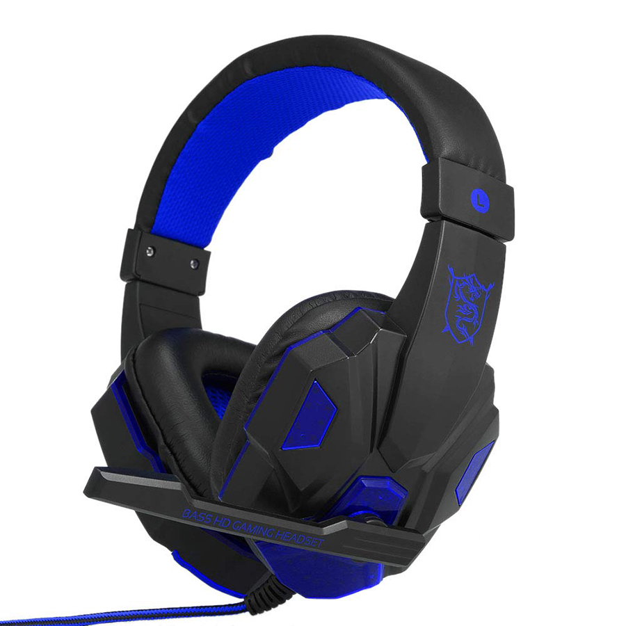 Gaming Headset Headphone for PC Laptop with Microphone with USB 3.5mm Interface LED Volume Control Over-ear Headphone - 2172785 , 5972876496681 , 62_13928009 , 397000 , Gaming-Headset-Headphone-for-PC-Laptop-with-Microphone-with-USB-3.5mm-Interface-LED-Volume-Control-Over-ear-Headphone-62_13928009 , tiki.vn , Gaming Headset Headphone for PC Laptop with Microphone with