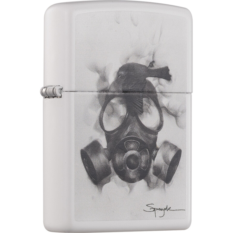 Zippo lighter Spazuk-toxic gas crisis white matt paint color printing 29646-000018