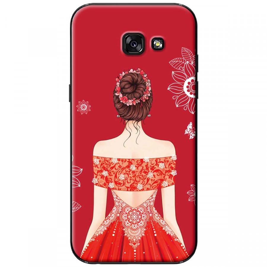 Ốp lưng dành cho Samsung A5 2017 Cô gái váy đỏ áo xẻ vai