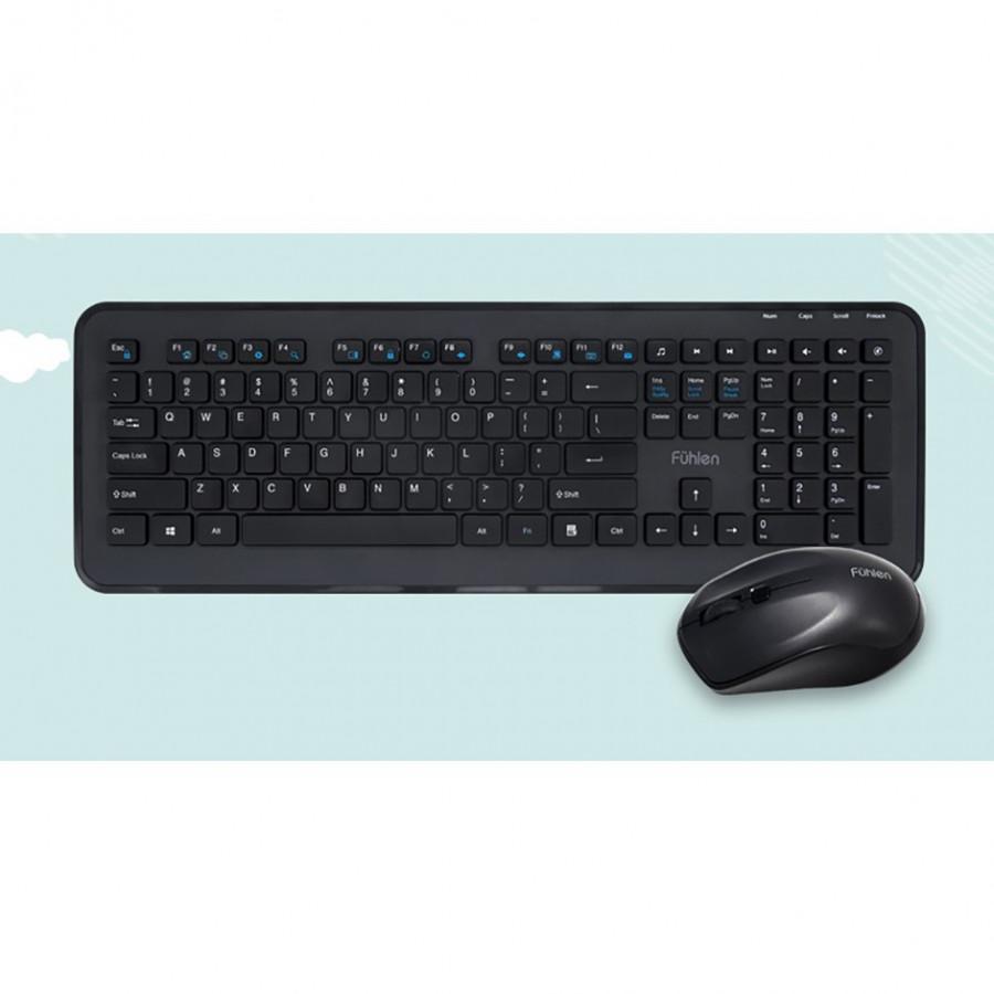 Bộ bàn phím chuột không dây Fuhlen MK880 - Hàng chính hãng