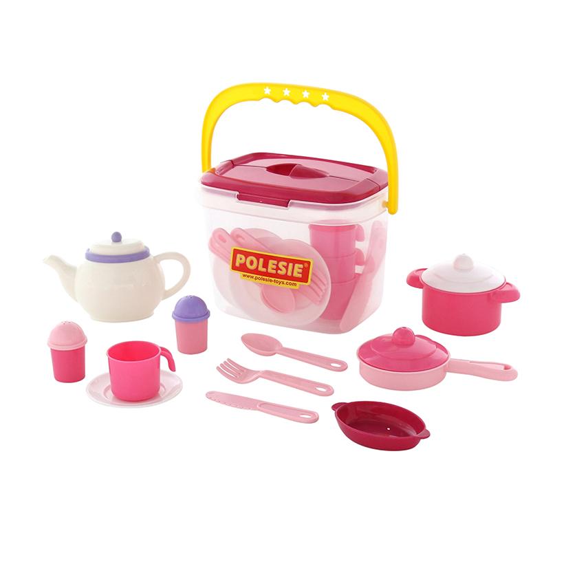 Bộ đồ chơi phụ kiện nhà bếp Nasten'ka cho 4 người (29 mảnh) – Polesie Toys