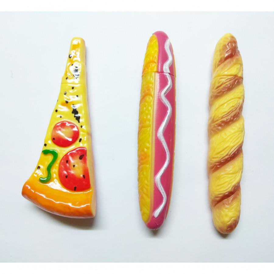 Bộ 3 Bút Bi Kiểu Dáng Pizza - Hotdog - Bánh Xu