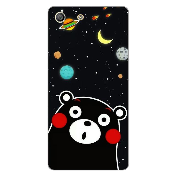 Ốp lưng dẻo Nettacase cho điện thoại Sony Xperia M5 _0345 BEAR03 - Hàng Chính Hãng