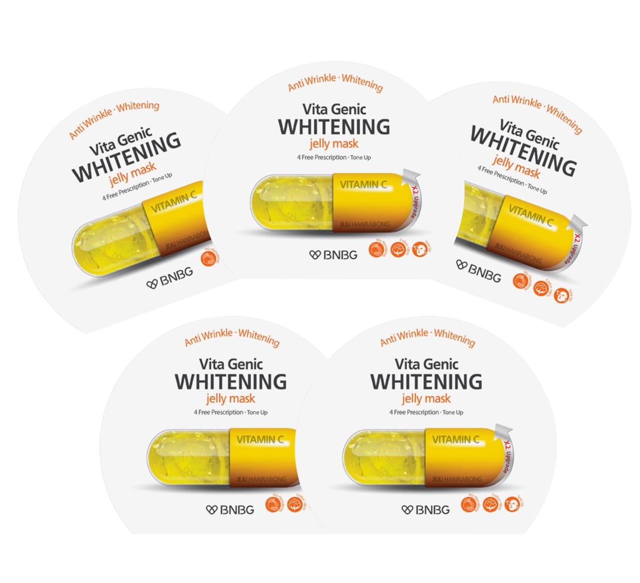 Combo 5 Mặt nạ giấy dưỡng da trắng sáng và làm đều màu da  Banobagi Vita Genic Whitening Jelly Mask (Vitamin C) 30ml x5 - 5315972 , 9283245585445 , 62_15974747 , 150000 , Combo-5-Mat-na-giay-duong-da-trang-sang-va-lam-deu-mau-da-Banobagi-Vita-Genic-Whitening-Jelly-Mask-Vitamin-C-30ml-x5-62_15974747 , tiki.vn , Combo 5 Mặt nạ giấy dưỡng da trắng sáng và làm đều màu da  B