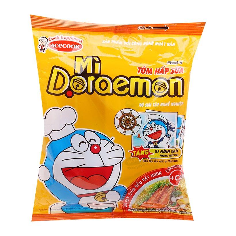 Mì Gói Doraemon Hương Vị Tôm Hấp Sữa Acecook (62g)