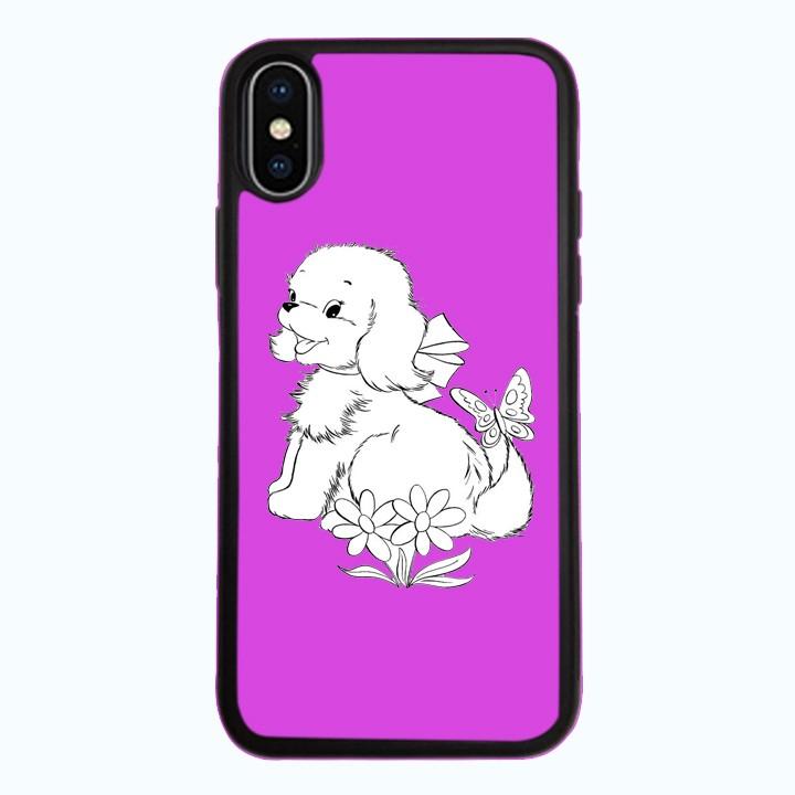 Ốp Lưng Kính Cường Lực Dành Cho Điện Thoại iPhone X Puppy Cute Mẫu 1