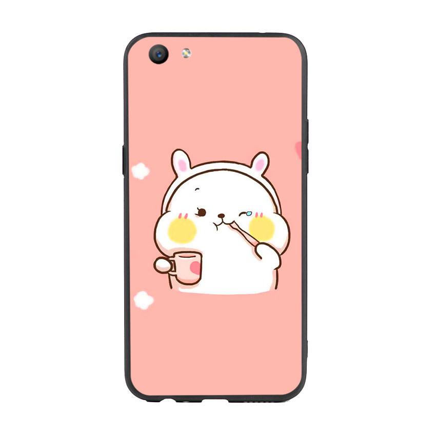 Ốp lưng viền TPU cho điện thoại Oppo F3 - Cute 06