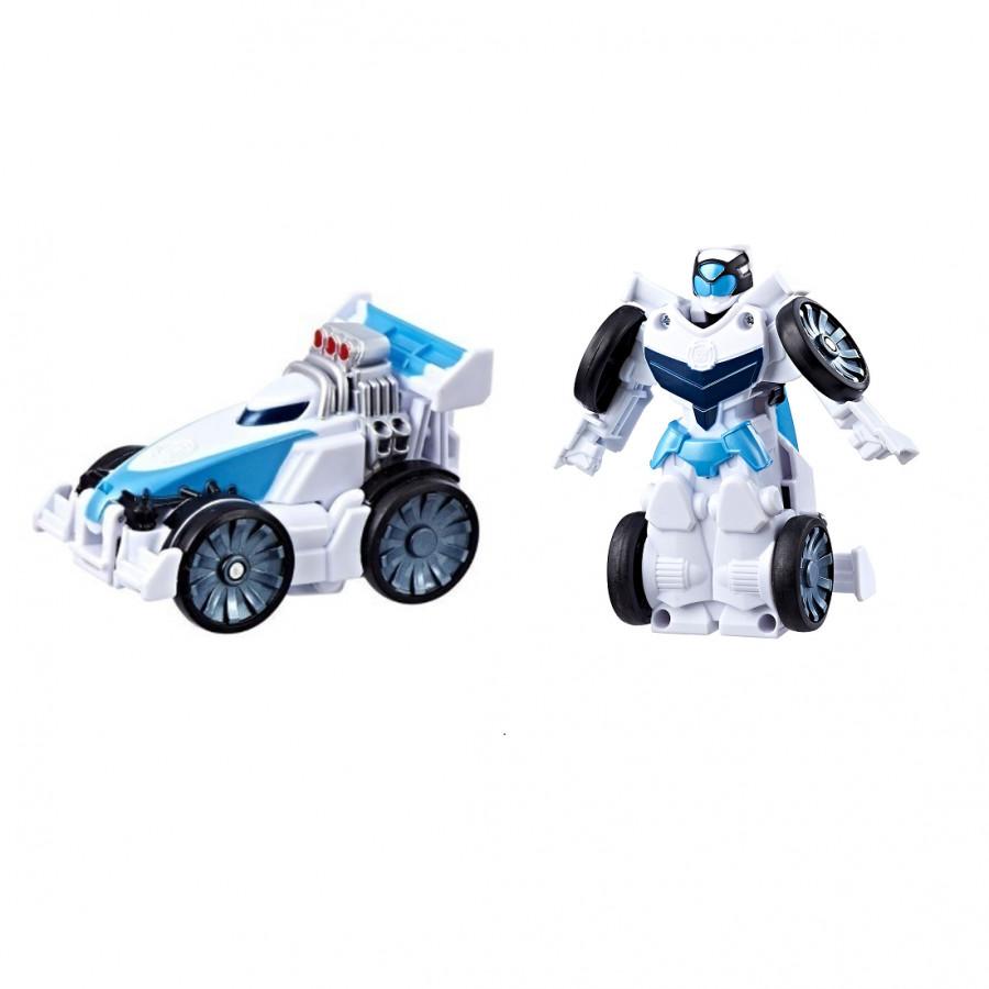 Mô hình xe đua chạy cót biến hình siêu tốc thành robot