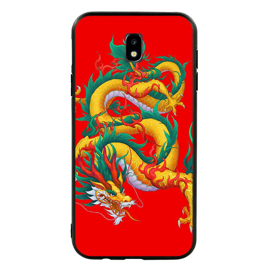 Ốp lưng viền TPU cho điện thoại Samsung Galaxy J7 Pro - Dragon 09