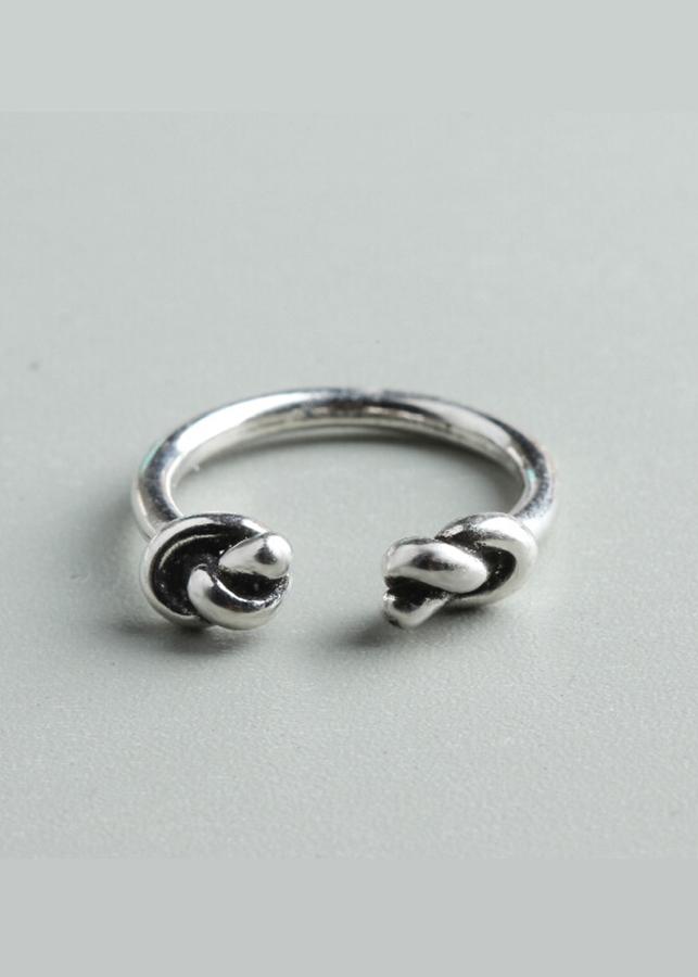 NH055 Nhẫn bạc Thái 925 Dasavoong cỏ hai đầu