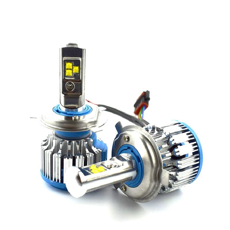 Bộ đèn pha Led Turbo T1 chân H4 dành cho ô tô xe máy GreenNetworks