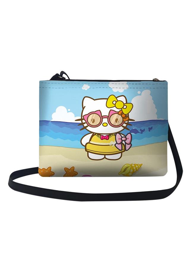 Túi Đeo Chéo Nữ In Hình Hello Kitty Trên Bờ Biển - TUCT032 (24 x 17 cm)