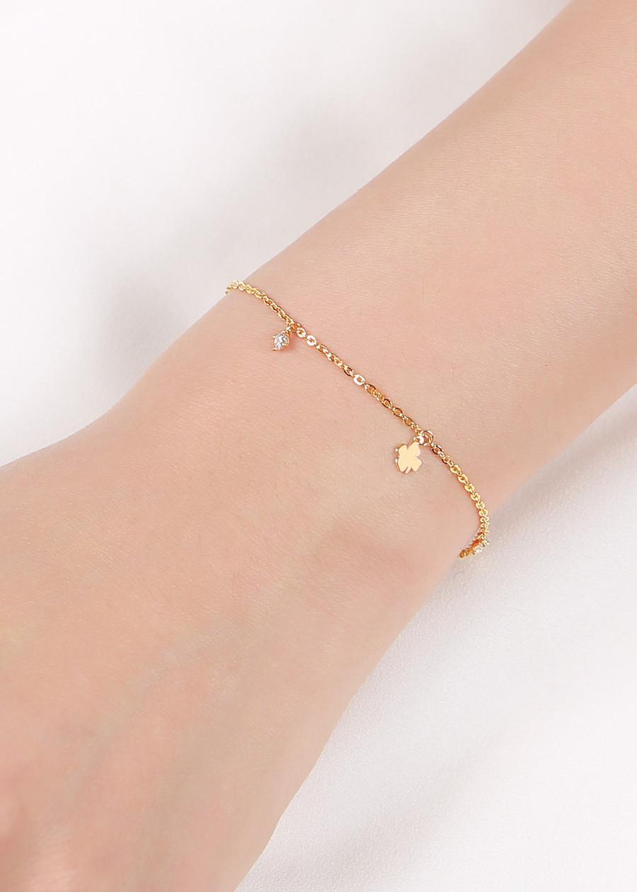 Lắc Tay Nữ vàng Huy Thanh Jewelry LLF68