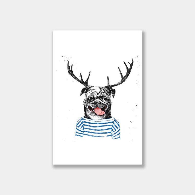 Tranh Canvas Bull dog gắn sừng tuần lộc đáng yêu - 2263258 , 7146870594201 , 62_14504651 , 908000 , Tranh-Canvas-Bull-dog-gan-sung-tuan-loc-dang-yeu-62_14504651 , tiki.vn , Tranh Canvas Bull dog gắn sừng tuần lộc đáng yêu