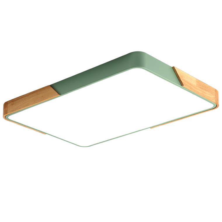 Đèn Ốp Trần Chữ Nhật Phối Gỗ - DOT00096 | Kèm bóng