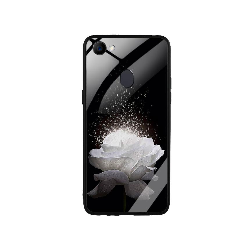 Ốp Lưng Kính Cường Lực cho điện thoại Oppo F7 -  0324 ROSE03