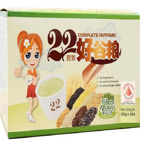 Bột ngũ cốc dinh dưỡng 22 Complete Nutrimix - Wheat Grass (Mầm lúa mì) 625g/hộp - 1165564 , 1186532206772 , 62_4678887 , 550000 , Bot-ngu-coc-dinh-duong-22-Complete-Nutrimix-Wheat-Grass-Mam-lua-mi-625g-hop-62_4678887 , tiki.vn , Bột ngũ cốc dinh dưỡng 22 Complete Nutrimix - Wheat Grass (Mầm lúa mì) 625g/hộp