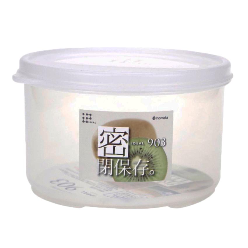 Hộp nhựa đựng thực phẩm 830ml loại tròn có nắp nội địa Nhật Bản