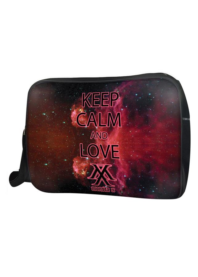 Túi Đeo Chéo Hộp Unisex Keep Calm And Love Monsta X - TCKK043