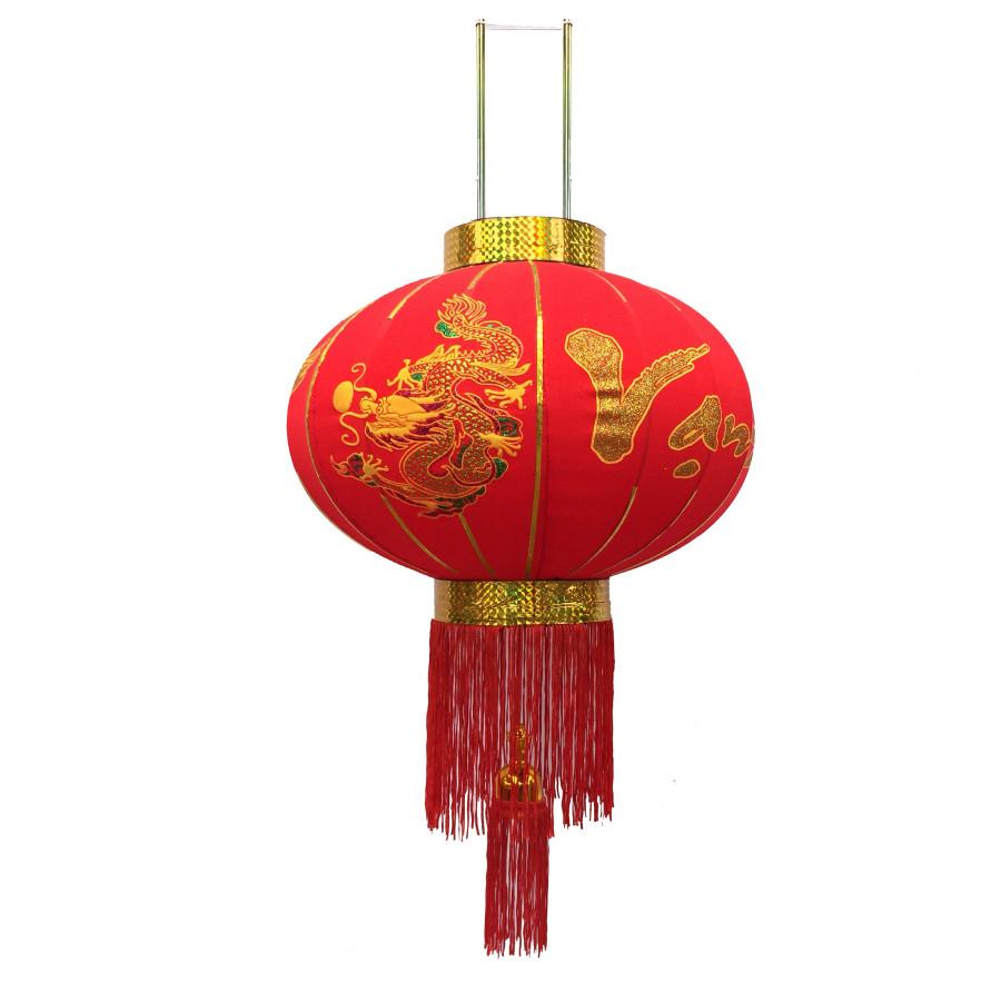 Đèn lồng đỏ Rồng Phượng đường kính 40cm (Vạn Sự Như Ý) trang trí Tết