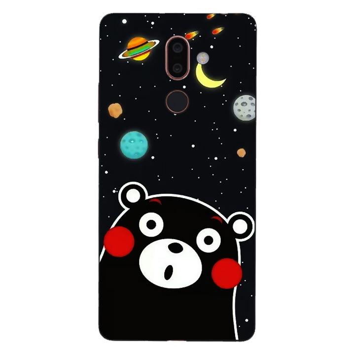 Ốp lưng dẻo Nettacase cho điện thoại Nokia 7 Plus_0345 BEAR03 - Hàng Chính Hãng