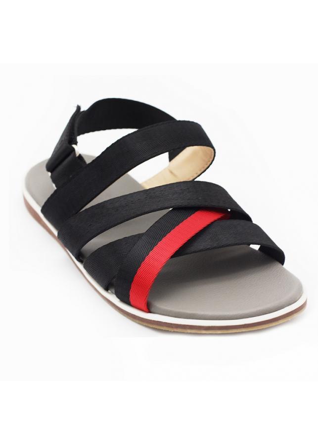 Giày sandal 3 quai chéo nam thời trang Everest A450 (đen - đỏ)