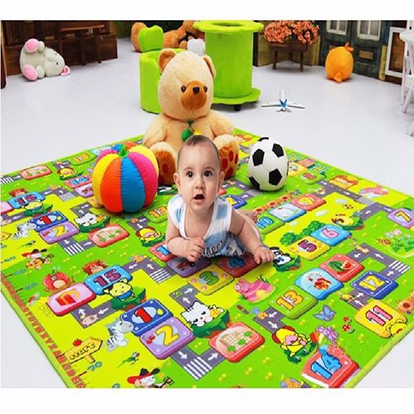 Thảm nằm có 2 mặt cho bé - màu ngẫu nhiên