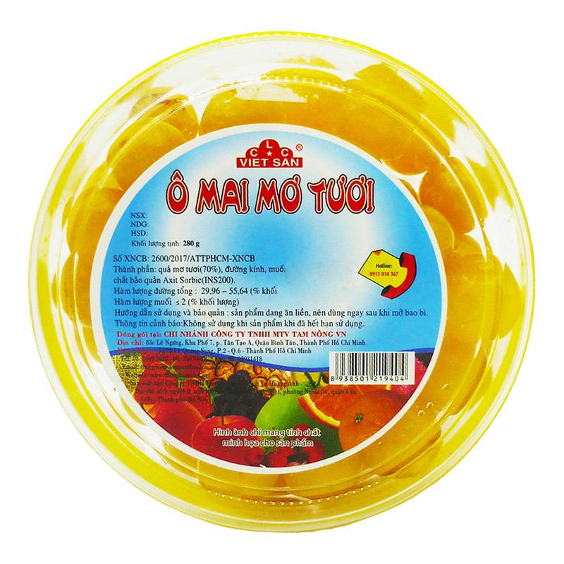 Ô Mai Mơ Tươi Việt San 280G - 7155452 , 9210206483212 , 62_14321194 , 33000 , O-Mai-Mo-Tuoi-Viet-San-280G-62_14321194 , tiki.vn , Ô Mai Mơ Tươi Việt San 280G