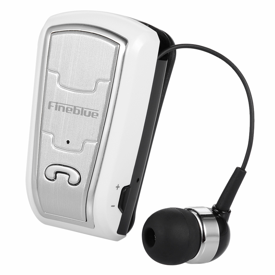 Fineblue Wireless Bluetooth Headsets InEar Stereo Headphones ClipOn Earbuds HandsFree With Microphone