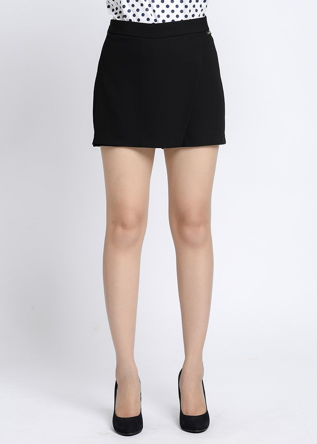 Quần Short Nữ Vạt Chéo Lamer L64S18H027-S1400 - Đen